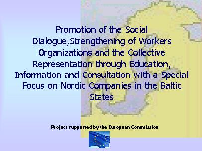 Organising Nordic companies in Baltic states: proejct evaluation conference