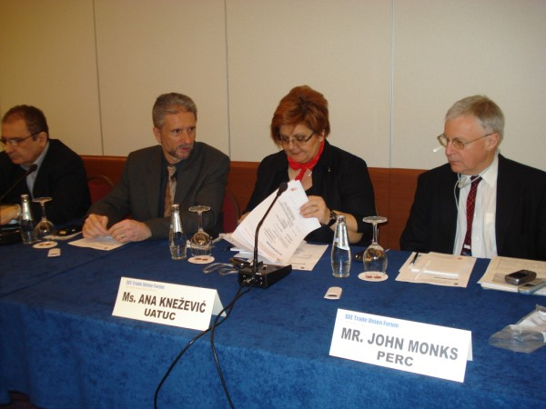 SEE Trade union Forum meeting in Zagreb